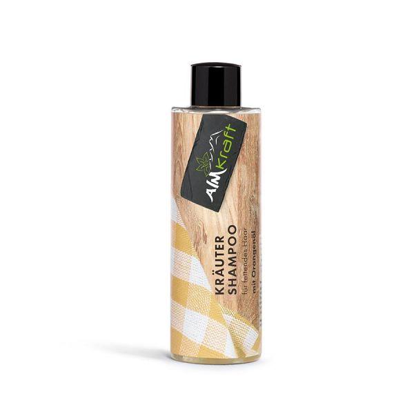 Almkraft KRÄUTER SHAMPOO für fettendes Haar mit Orangenöl