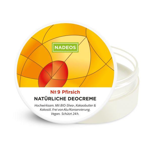 Natürliche Deocreme Pfirsich