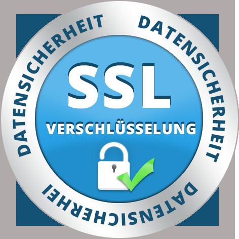 100% sicheres Einkaufen duch SSL-Verschlüsselung