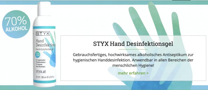 STYX Handdesinfektion